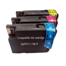 Compatible hp 933 XL Officejet 6100 ePrinter, HP Officejet 6100 6600 6700 e-All-in-One - 3PAK - couluer cartridges - C + M + Y(China)