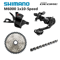 Shimano DEORE M6000 1x10 10S Speed 11 42T Groupset Contains Shifter Lever & Rear Dearilleur & Cassette & Chain