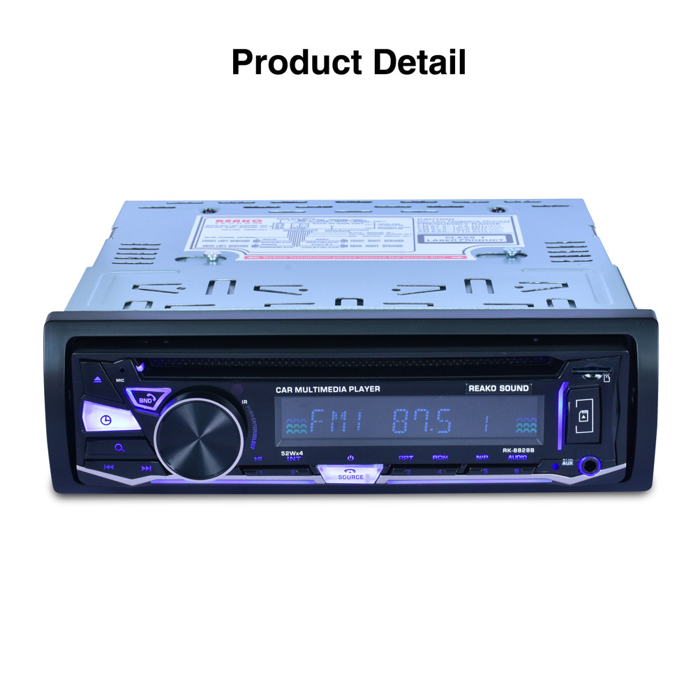 Bluetooth Car Audio Stereo FM DVD CD MP3 Player Receiver USB SD AUX Input 8828B Fashion Item 17Sept14 1563u 1 din 12v car radio audio stereo mp3 players cd player support usb sd mp3 player aux dvd vcd cd player with remote control