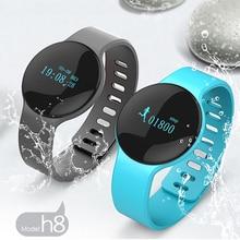 Bluetooth 4 смарт-браслет H8 Спорт браслет с шагомер Шаг Калорий интеллектуальные сна монитор вызова SMS напомнить