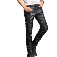 New arrival AMU PU Leather stylish riding Motor Racing Waterproof Pants Motorcycle Riding Protective Trousers