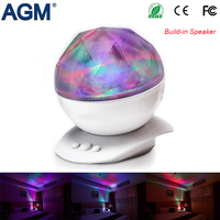 USB Powered Diamond Projection LED Night Light With Build In Speaker For Baby Kids Bedroom Low