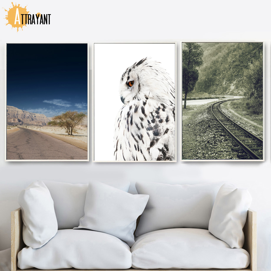 Mountain Eagle Railway Canvas Painting Wall Art Posters And Print Wall Pictures For Living Room Canvas Print Nordic Decoration