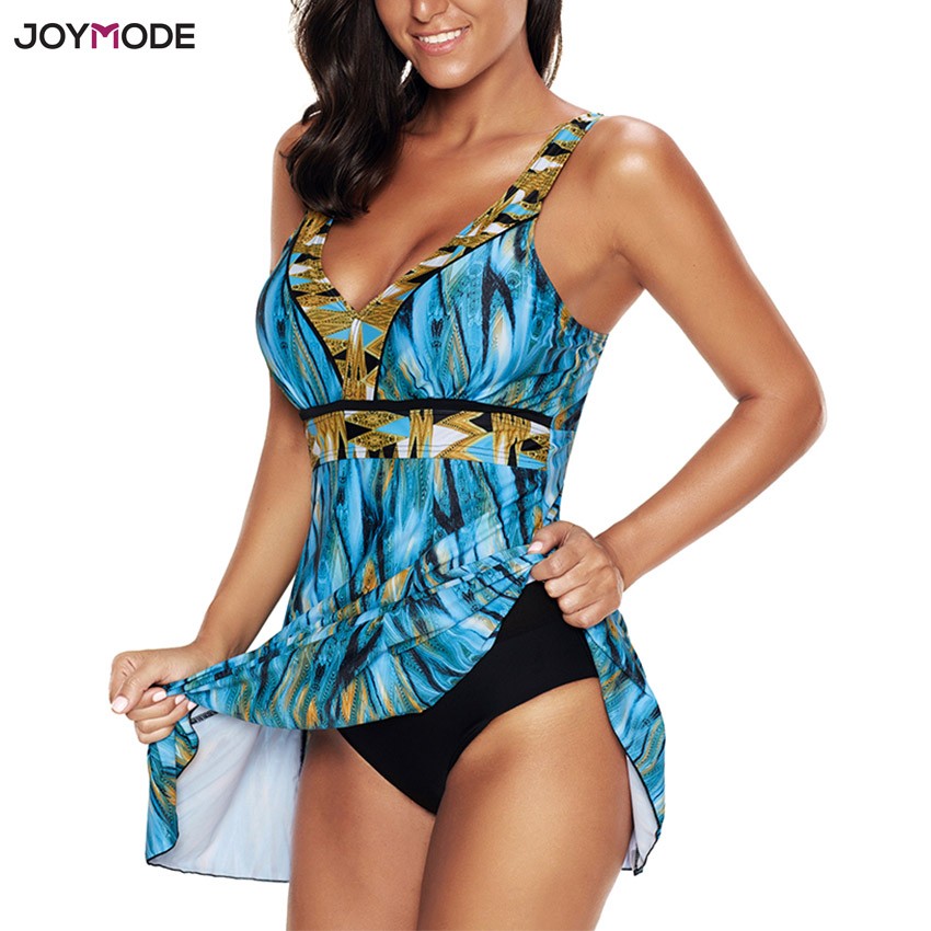 JOYMODE One Piece Swim Skirt Plus Size Swim suit Women Kikini Bujer 2018Brand Sexy Bathing Suit Cover Ups Beach wear Dress 2017 floral skirt swimming suit plus size swimwear women one piece print bathing suit half sleeve ladies swim suit dress maillot