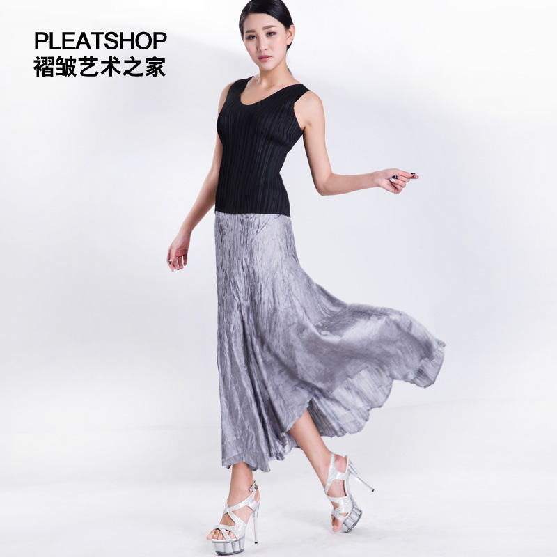 pleated long design elegant gorgeous full skirt bohemia elegant high waist font b tube b font