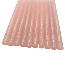 Палочки термоклея 7 мм цветной клей светло-розовый цвет блестящая наклейка палочки профессиональные для Электрический клеевой пистолет Ремесло ремонт