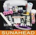 Pro Nail Art UV Gel Kits Tool UV  9W  lamp Brush Remover nail tips glue acrylic Base