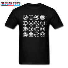 Marvel T-shirt Mannen Katoenen T-shirt Avengers Infinity War Hero Icoon T-shirt Thor Captain America Spiderman Hulk Comic Fans Top tees(China)