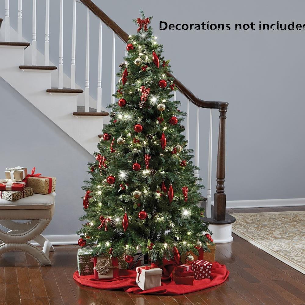 1,8 м поддельная Рождественская елка с новым годом вечерние 2019 Вечеринка Деревянная Рождественская елка висячие украшения искусственная Рождественская елка navidad