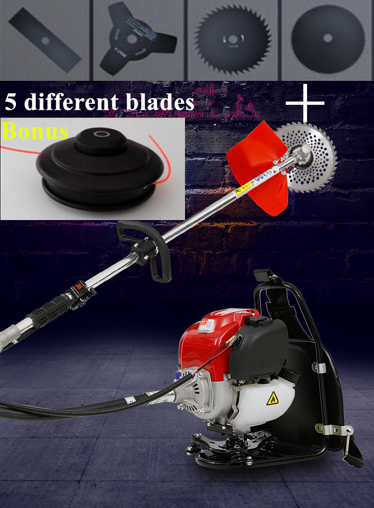 Tools Dependable 2019 New High Quality Petrol Backpack Brush Cutter Grass Cutter With 52cc Petrol 2 Stroke Engine Multi Brush Trimmer Strimmer Goods Of Every Description Are Available Garden Power Tools
