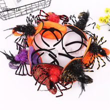 New Halloween Spider Headband Holiday Party Pumpkin Decoration Ghost Festival Witch Hat Explosion Hot Sale Item Headwear