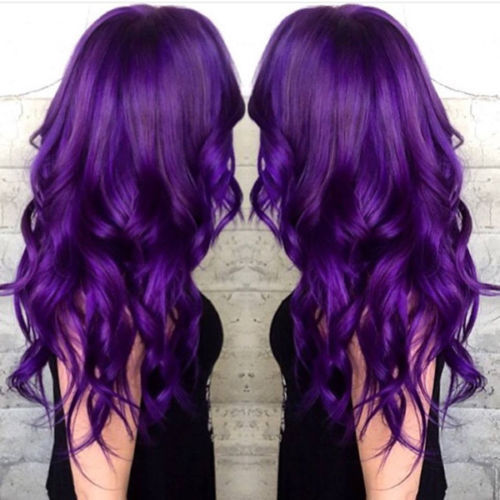 New Premium 100% PERMANENT HAIR DYE COLOR CREAM PURPLE VIOLET LIGHT GRAY Pink Magenta DARK BROWN VIOLET ASH BLOND SILVER New.