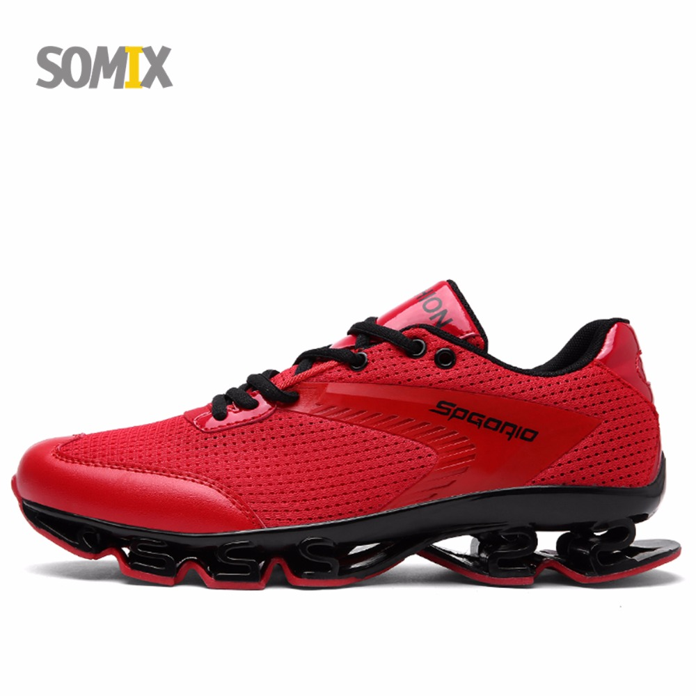 2017 Somix Breathable Damping Running Shoes Super Light Sneakers Men Athletic Shoes Brand Sport Shoes Cushion Running Men Shoes