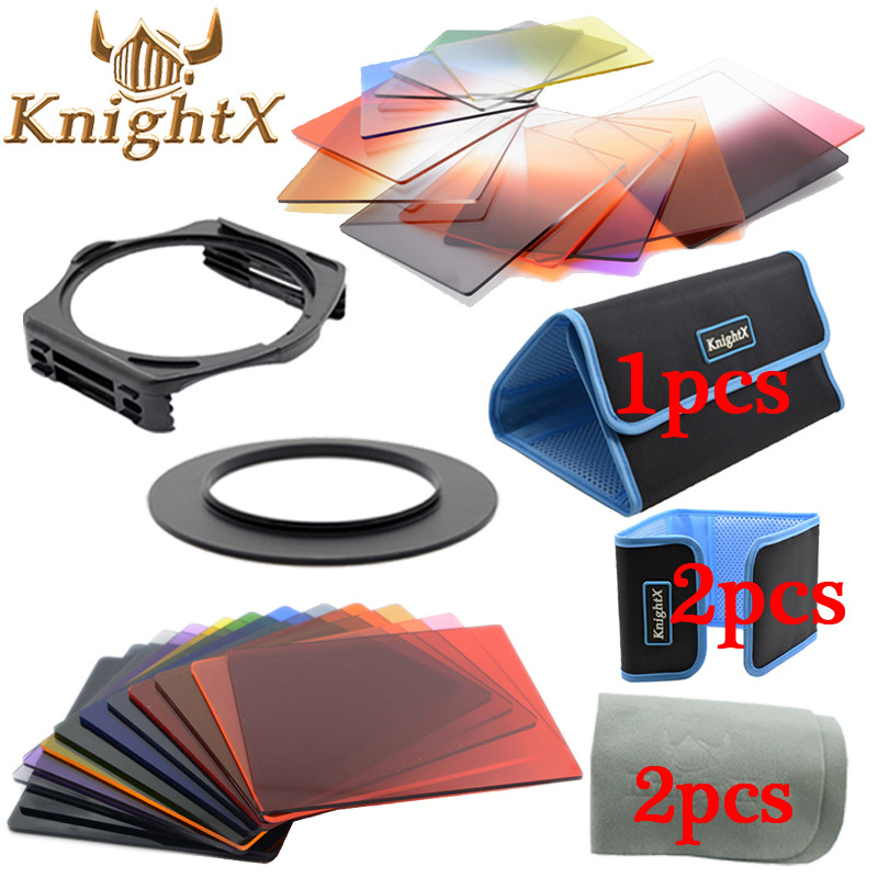 KnightX 24 Filter Graduated ND Set color series for Nikon Canon EOS cokin p 1200D 750D colored light lens 49mm 82mm 58mm 67mm 77