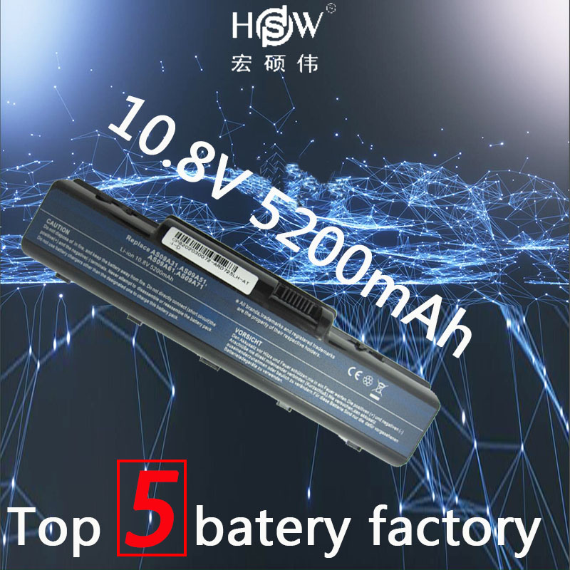 HSW 5200mah Laptop Battery For Acer EMACHINES E525 E627 E725 D525 D725 G620 G627 G725 E627-5019 AS09A31 AS09A41 AS09A51 Battery