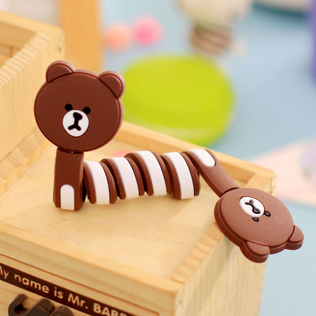 Lovely Animals Silicone Cable Winder Clip Earphone Headphone Earbud Cord Wrap Organizer Holder for iPhone Samsung