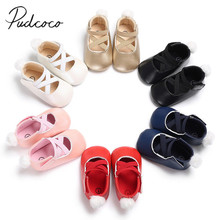 2018 Brand New Toddler Infant Newborn Baby Girls Sneakers Bow Non-slip Crib Shoes Little Tail Soft Sole Party Prewalkers 0-18M