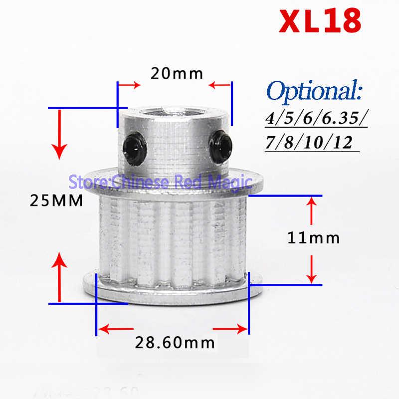 XL16/XL17/XL18/XL19/XL20 16-20teeth Thời Gian Ròng Rọc Nhôm Bộ Phận Máy In 3D XL răng Đường Kính Chiều Rộng 11 mét Bánh Xe Đồng Bộ Bánh