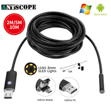 Endoscope 8MM 2M 5M 10M USB Android Endoscope Camera 720P Pipe Tube Inspection Android Endoscopic Borescope USB Endoskop Camera(China)