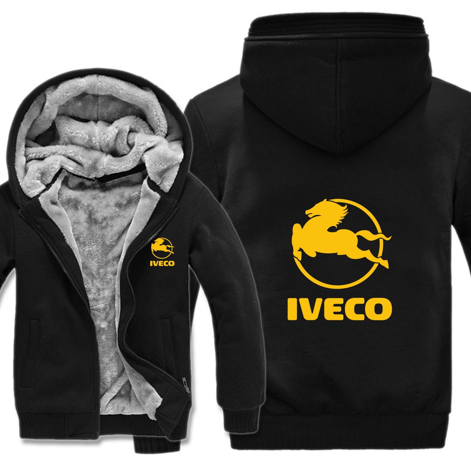 Image 2 - Winter Iveco Truck Hoodies Men Fashion Coat Pullover Wool Liner Jacket Iveco Sweatshirts Hoody HS 004-in Hoodies & Sweatshirts from Men's Clothing