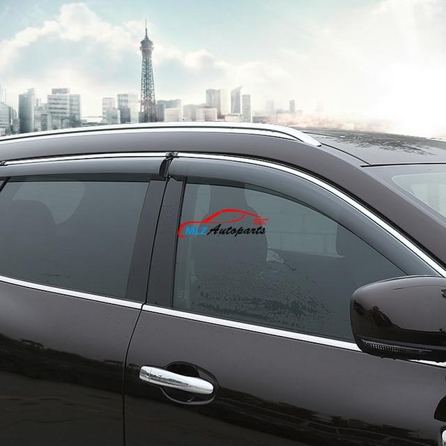 Car Door Window Sun Visors Rain Vent Deflector Guard Shield Shade With  Stainless Steel Strip For Renault Koleos 2017 QM6 739d537cdee
