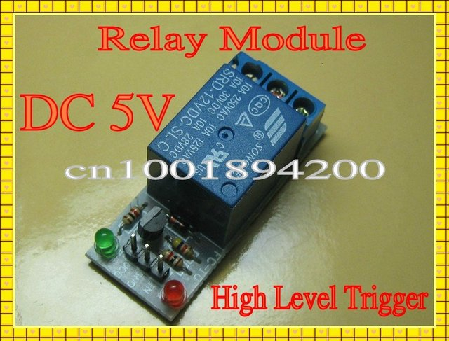 DC5V 1Channel(CH) Way  Relay Module Expansion Board  High level trigger Arduino PIC  AVR MCU DSP Free Shipping 20pcs/Lot