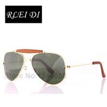 RLEI DI High Quality Men Women Unisex Sunglasses Driving Top grade Glass lens Sun Glasses Alloy PU frame Glasses Eyewear