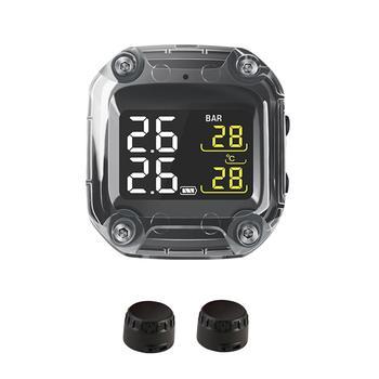 防水オートバイリアルタイムタイヤ空気圧監視システムワイヤレス液晶ディスプレイ内部または外部センサー