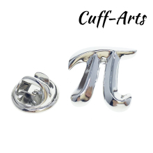 Cuffarts Men Brooches Maths Pi Symbol Lapel Pin Trendy Fashion Party Decorate Clothing Luxury Handsome Metal P10120
