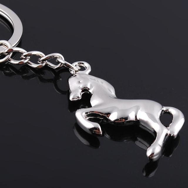 Fashion Striping Jewelry Animal Keyring Cute Running Horse Key Chain