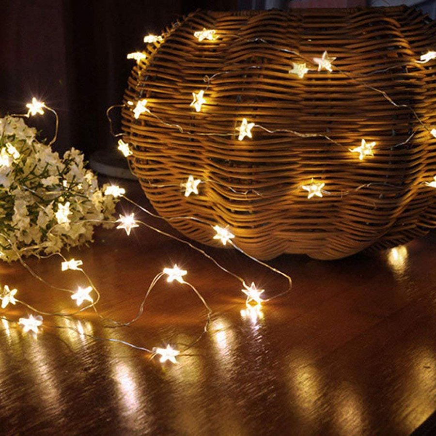 2M 3M LED Star Copper Wire String Lights LED Fairy Lights Battery Operate Christmas Wedding Party New Year Decoration Lights