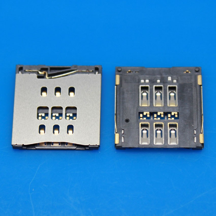 iphone 5s sim card slot 5pcs shipping sim card slot socket for iphone 5s sim card 2222