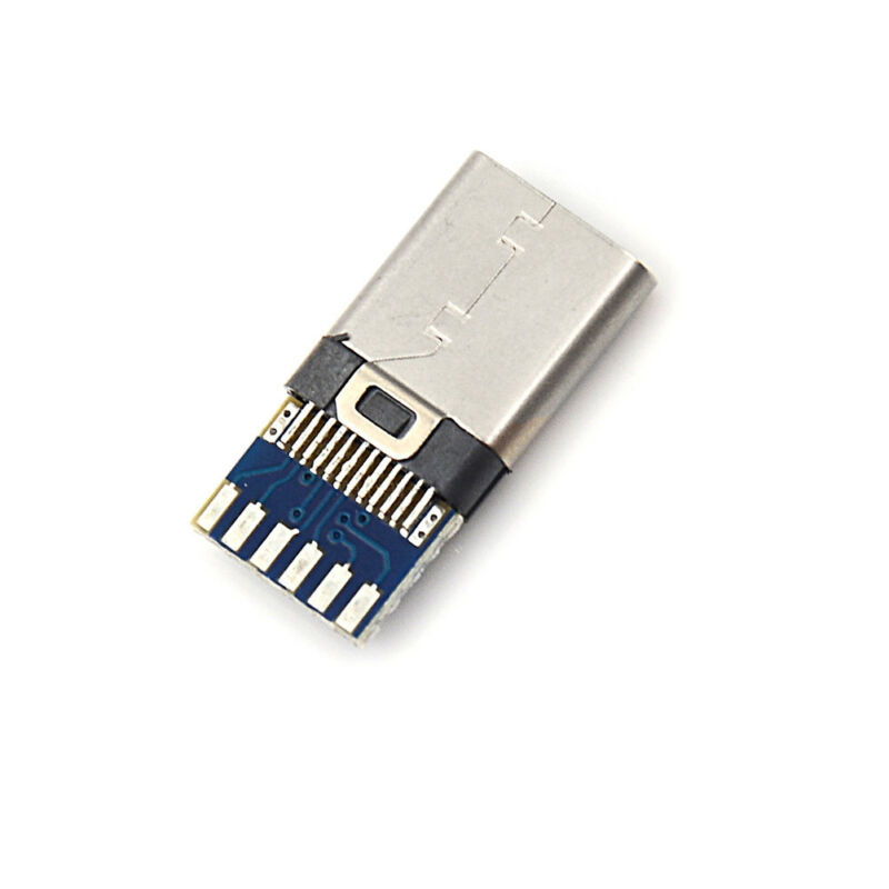 Quality 2pcs USB 3 1 Type C Male DIY Solder Cable Plug Socket Attached PC Board in Data Cables from Consumer Electronics
