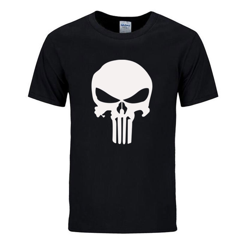 Punisher T Shirts For Men T Shirt Cotton Fashion Brand T Shirt Men Casual Short Sleeves The Punisher T-shirt Men