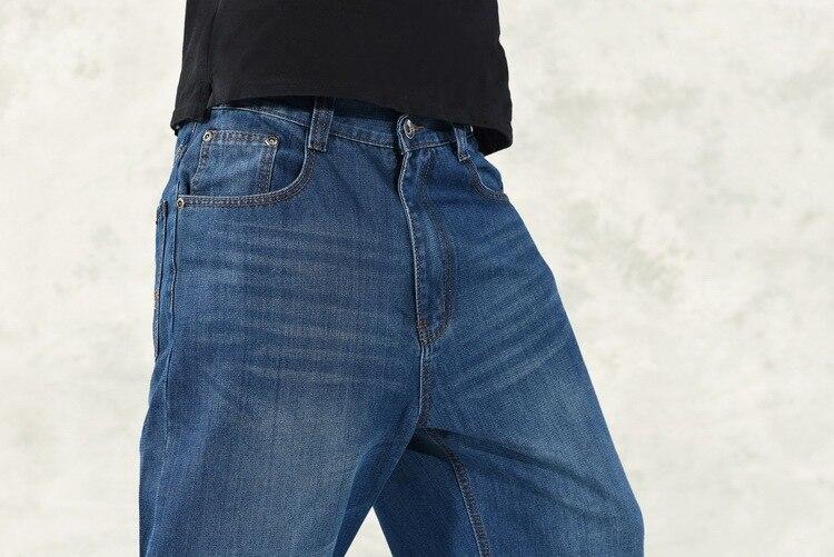 Lichte Spijkerbroek Heren : Mannen baggy jeans heren hiphop jeans lange losse mode skateboard