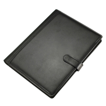 Teczka skórzana A4 teczki Folder konferencyjny czarny