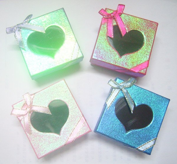 Free Shipping 24pcs/lot 6x6x3cm Jewelry Packaging Ring & Earring Necklace Set Gift Box BX10*