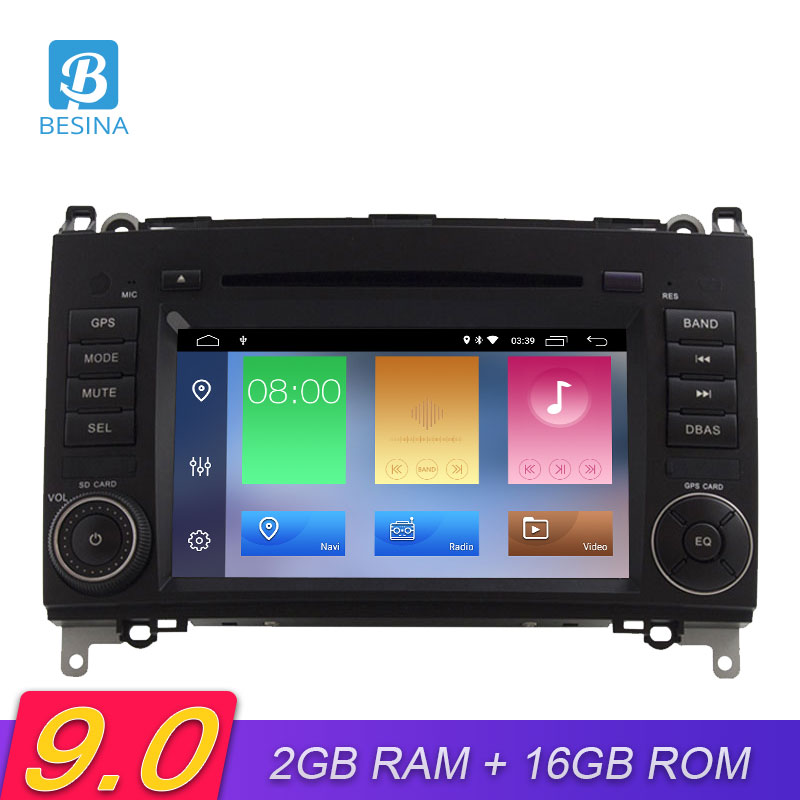 Besina 2 Din Android 9.0 Car DVD Player For <font><b>Mercedes</b></font> Benz B200 <font><b>B150</b></font> B170 B Class A180 Viano Vito Sprinter W245 W209 GPS Radio image