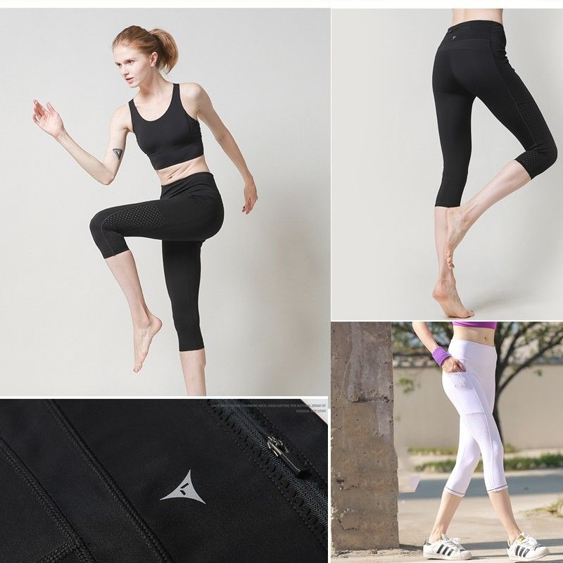 Fashion Women Workout Leggings Stretch High Waist Pants Skinny Fitness Mid-calf Legging