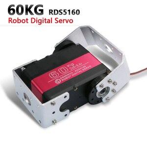 Image 1 - 1X serwo robota HV wysoki moment obrotowy serwo 60kg RDS5160 serwomechanizm cyfrowy z metalowymi zębatkami arduino serwo duże serwo