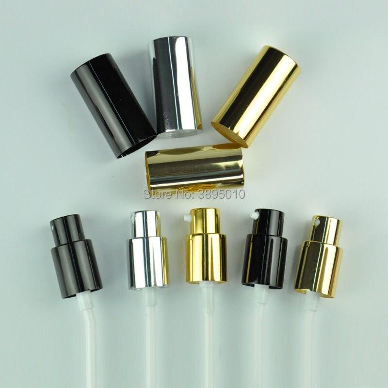 Bouchons de bouteille argent noir en aluminium couvercle de pompe de pulvérisation de brouillard tête couverture 18mm verre bouteille cou applicable bouteille de parfum pulvérisateur F1075 - 6
