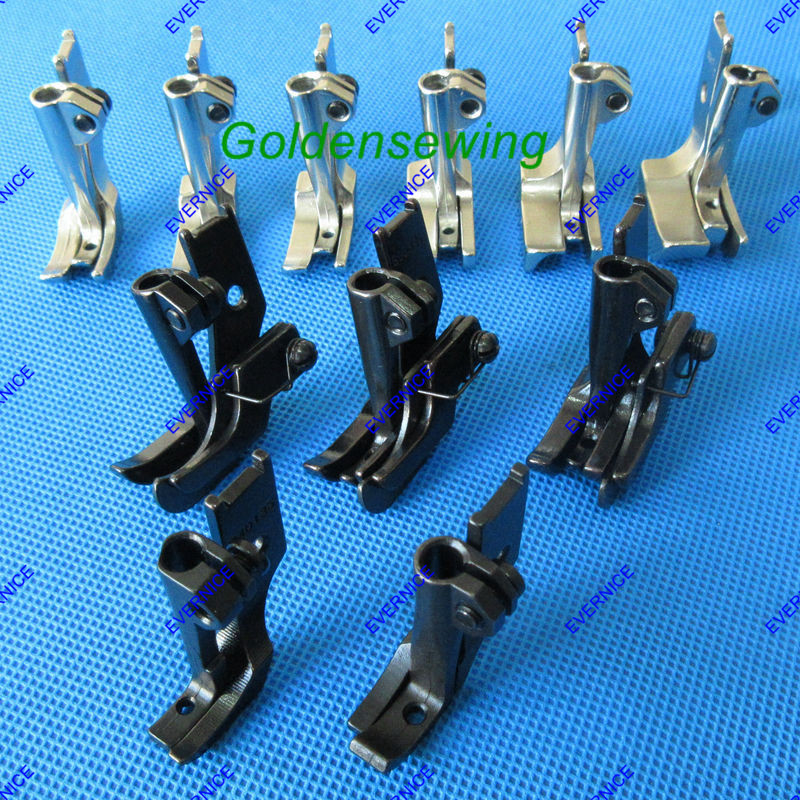11 Pairs ZIPPER WELTING PIPING WALKING FOOT With EDGE GUIDE For SINGER 111W 211W 153W