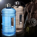 New 2.2L Grande Capacidade de Esportes Garrafas de Água Potável Ao Ar Livre Gym Meio Galão Garrafa de Água Espaço Copo de Acampamento de Treinamento de Fitness Em Execução
