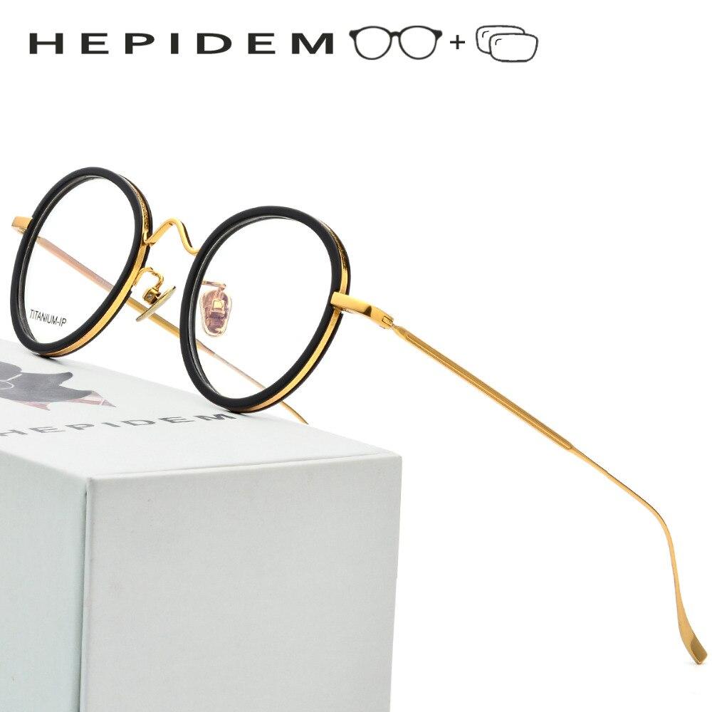 Pure Titanium Prescription Glasses Frame Men Ultralight Women Round Vintage Eyeglasses 2018 Korean Italy Optical Frames