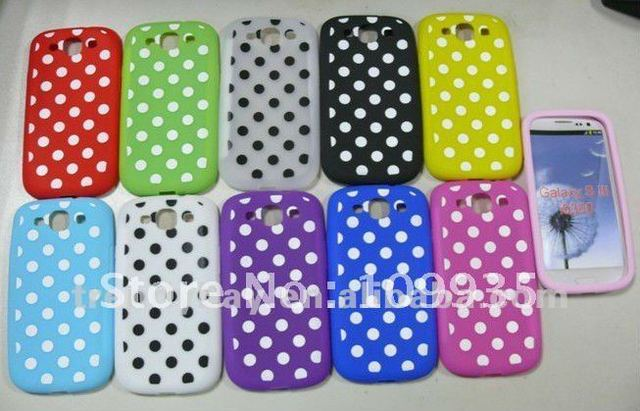 DHL Free shipping 100pcs/lot Polka dots case cell phone case for samsung galaxy 3