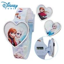 100% Genuino Disney niños reloj Moda frozen Elsa Anna Princesa Reloj de Pulsera del relogio masculino 89004-85
