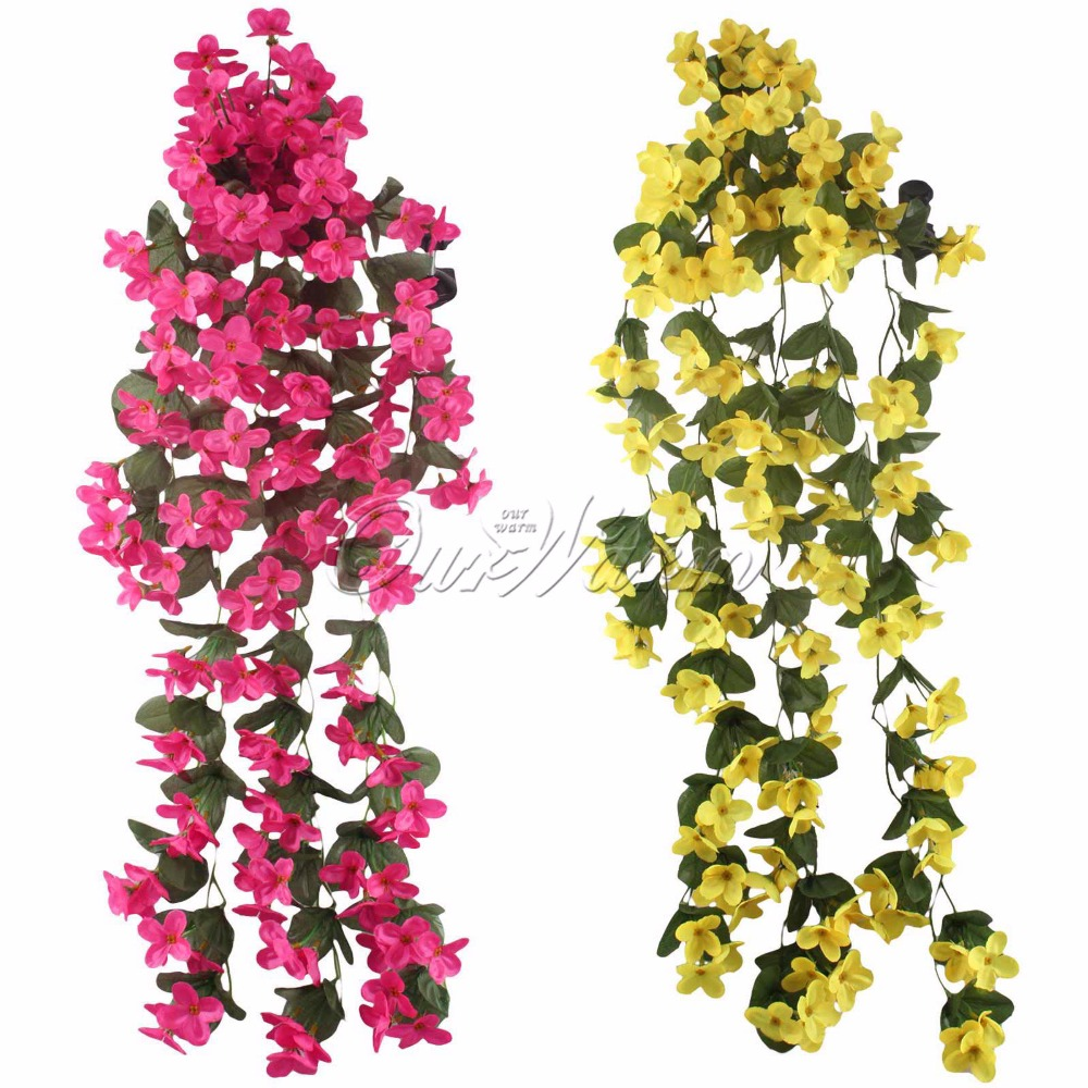 10pcs romantic artificial flowers hanging orchid fake flower for 10pcs romantic artificial flowers hanging orchid fake flower for wedding party home garden decoration yellowwhitepurplepink in artificial dried flowers mightylinksfo Gallery