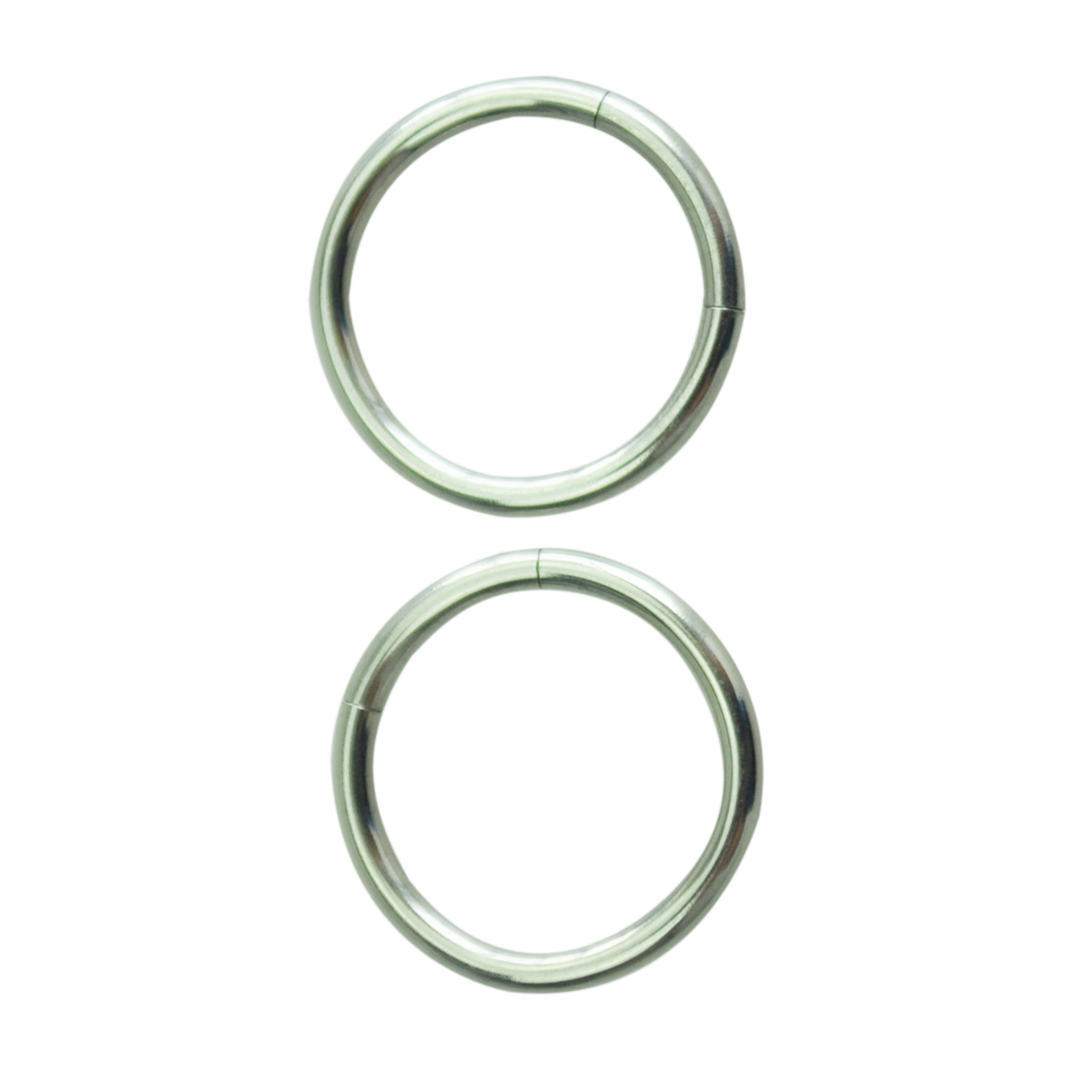 Endless Hoop Rings Lip Nose Ear Studs 1.2*10mm Silver
