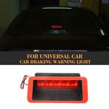 Car LED  Stop Braking Warning Light Signal Rear Brake Lamps High Quality ABS Universal