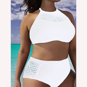 Комплект бикини с высокой талией для женщин размера плюс Xxl Xl Xxxl 4xl 5xl 6xl 2017